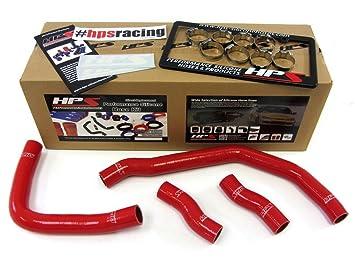 Toyota MR2 90 - 99 3SGTE Turbo HPS rojo silicona reforzada manguera de radiador de refrigerante: Amazon.es: Coche y moto
