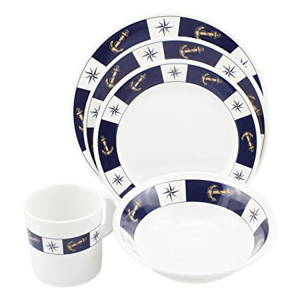 Amazon.com: Norestar Melamine Galleyware Nautical Boat Dish Set ...