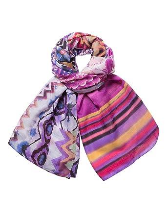Desigual Foulard, Echarpe Femme, Violet (Violeta 3011), Unique (Taille  Fabricant  One Size)  Amazon.fr  Vêtements et accessoires 60a3372ee9b