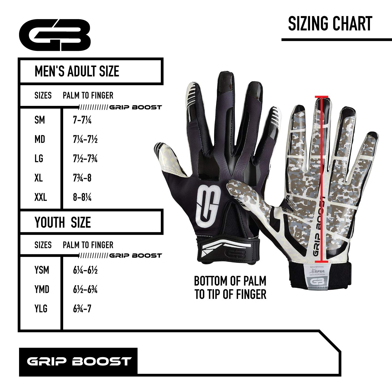 Grip Boost G-Force Football Gloves Adult Mens Football Gloves
