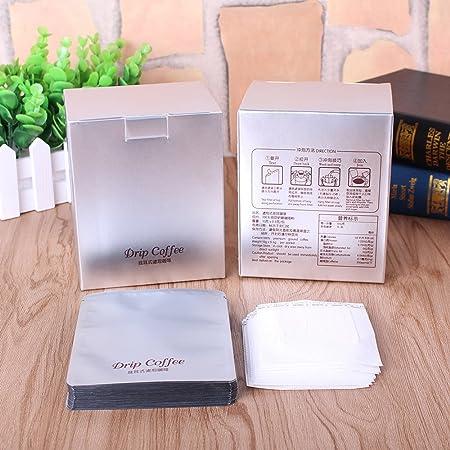 Cafetera de goteo para colgar bolsas de bolsa de filtro de papel Aluminizing caja de papel para embalaje de polvo de café productos 10set: Amazon.es: Hogar