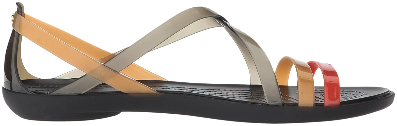 822571957c42 Amazon.com  Crocs Women s Drew Barrymore Isabella Strappy Sandal Flat  Shoes