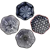 Ceramic Soy Sauce Dishes Set of 4 Serving Soy Sauce, Cold Dish (B)