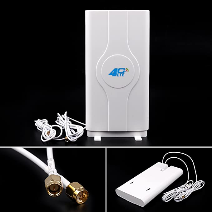 Amazon.com: Areyourshop Indoor Blazing Fast 3G 4G 88dBi LTE MIMO Antenna 700MHz-2600MHz 2M SMA Wire: Home Audio & Theater