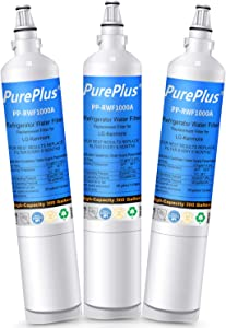 PUREPLUS 5231JA2006A Refrigerator Water Filter, Compatible with LG LT600P, 5231JA2006B, 5231JA2006E, 5231JA2006F, KENMORE 469990, 46-9990, 9990, R-9990, RWF1000A, LFX25961AL, DWF-10 (Pack of 3)