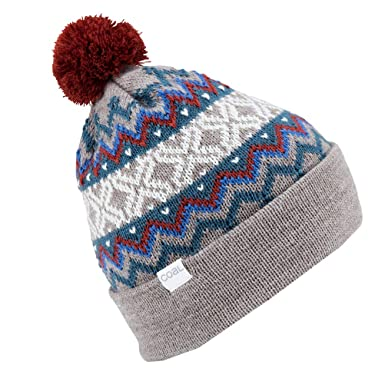 Amazon.com  Coal Men s The Winters Fine Knit Nordic Beanie Hat Pom ... 2cabc7350ee