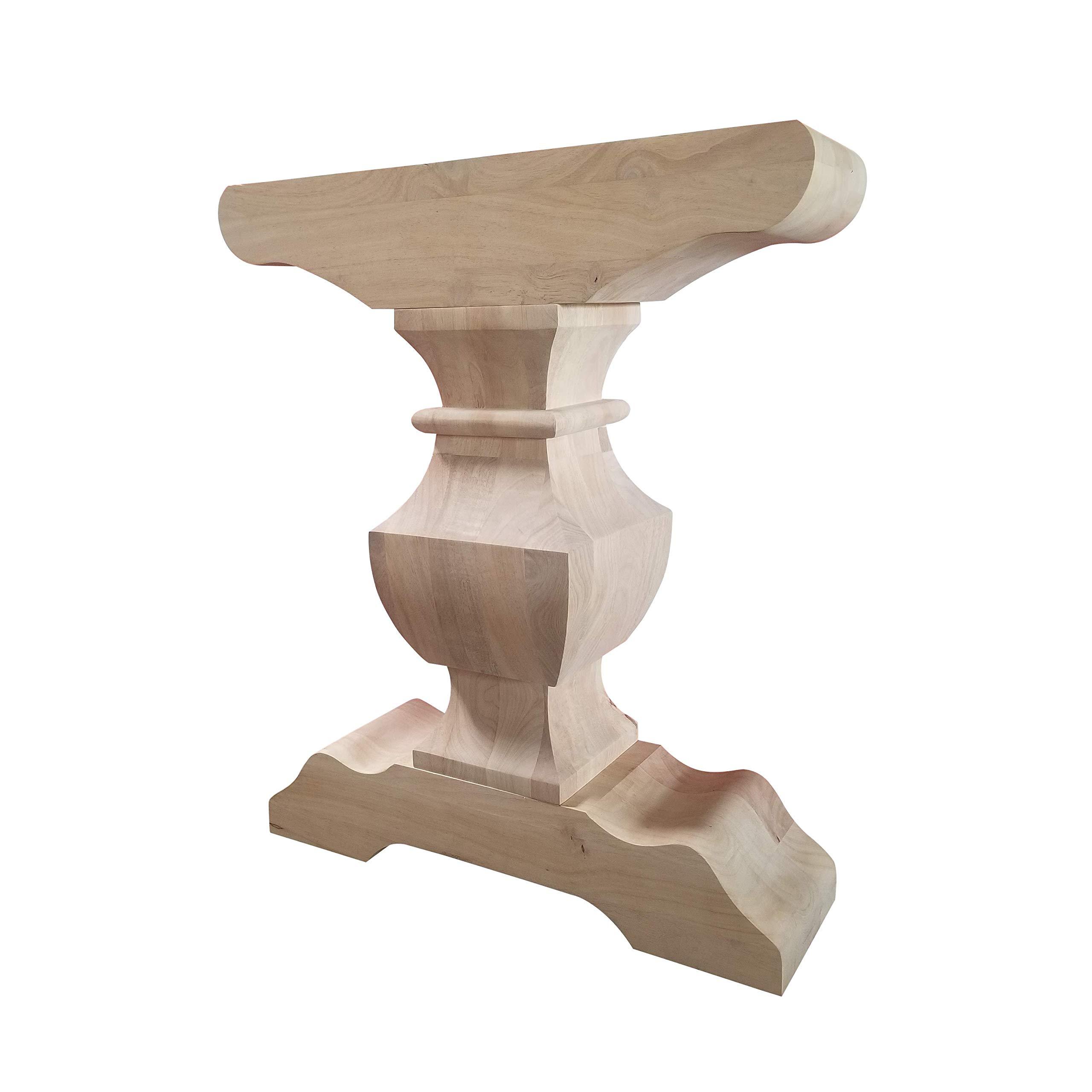 Trestle Table Base- Single Hardwood Pedestal- Design 59 (P02) by Design 59