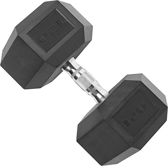 AmazonBasics 25LB DUMBBELL RUBBER COATED HEX WEIGHTS FREE PRIORITY MAIL SHIPPING