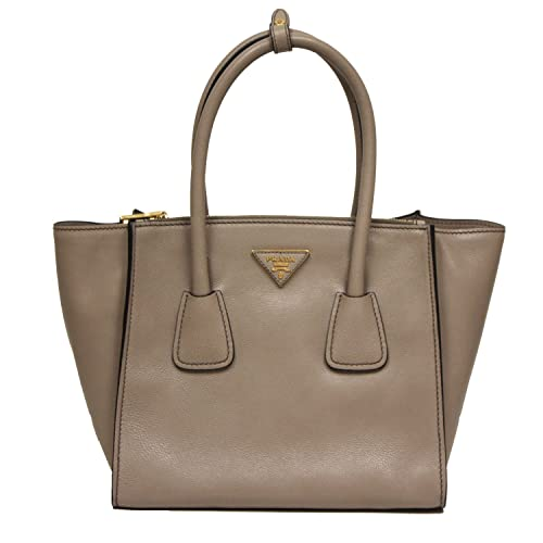721d0ea92049 ... low cost prada glance twins leather shopping tote with shoulder strap  1bg625 pomice grey 2c359 3a234