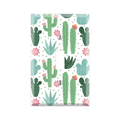 CACTUS Light Switch Cover Wall Plate, Cactus Graphics Wallplate, Outlet Cover, Single Toggle, Single Rocker, Outlet Cover, Gift for Cactus Lover, Desert Cactus Decor, Cactus Wall Plate Cover TF130: Handmade