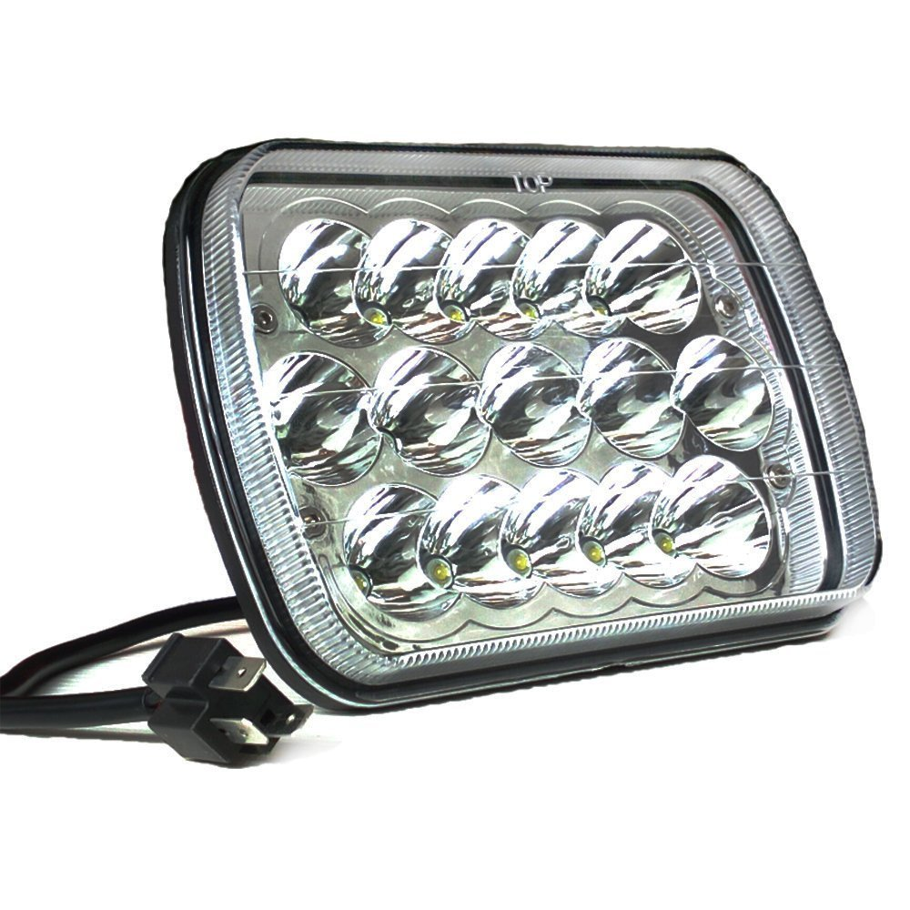 2pc 5x7 7x6 Sealed Beam Led Headlight Replacement For Jeep