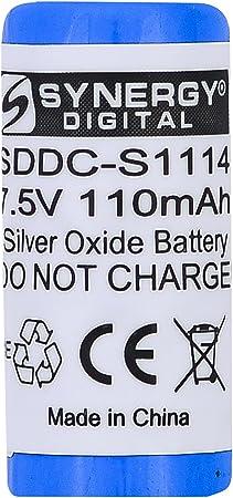 Synergy Digital Dog Collar Battery, Works with DogWatch Freedom Fence Dog Collar, (Silver Oxide, 7.5V, 110 mAh) Ultra Hi-Capacity Battery
