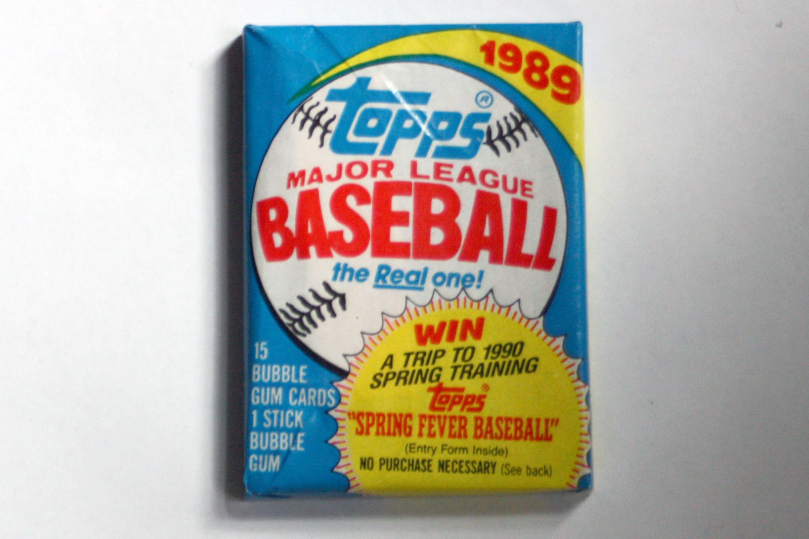 1989 Topps Baseball Cello Pack (1/15 Card Pack)