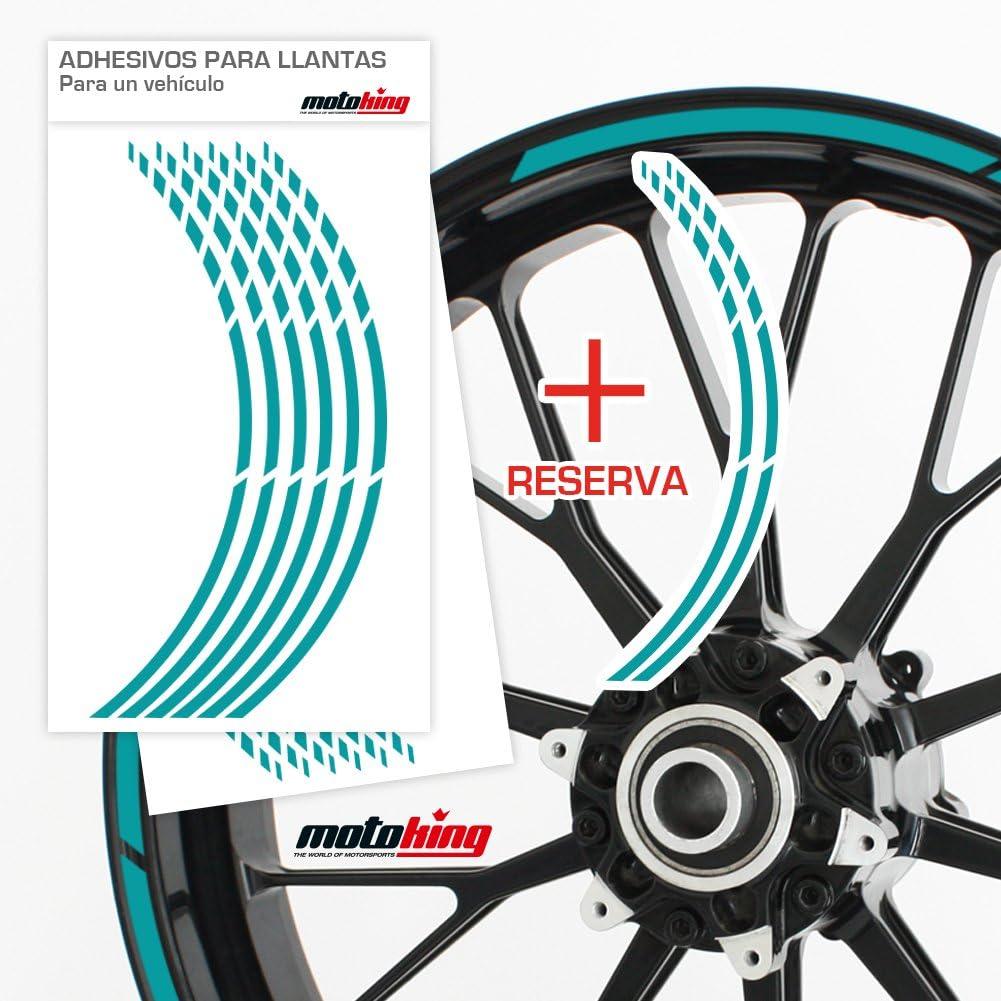 Motoking Adhesivos para Borde de llanta Juego Completo de 15 a 19 Color Opcionales