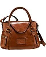 The Bridge Icons Shoulder Bag Leather 32 cm marrone