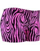 Tuga Juniors'/Women's Zebra Spandex Shorts, 4 Inch Inseam
