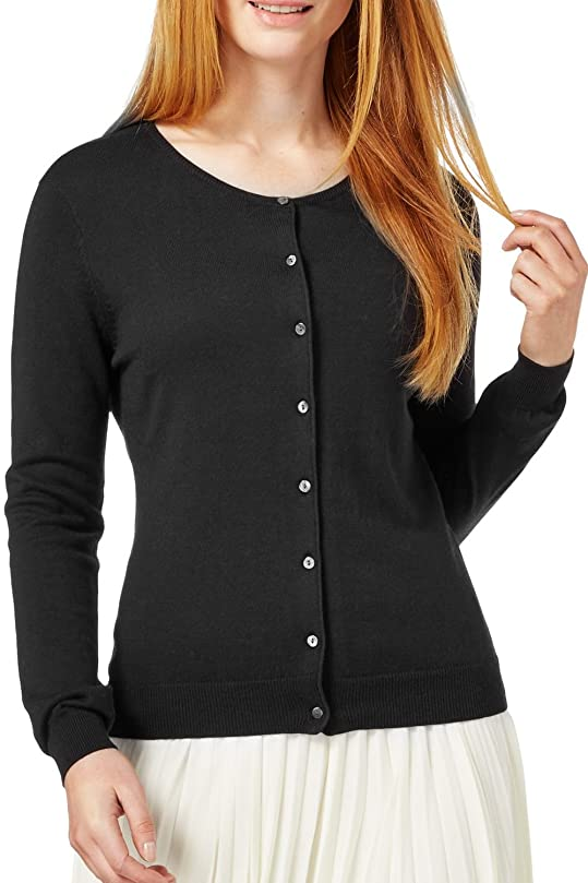 WuhouPro Womens Button Down Long Sleeve Knit Cardigan Sweater