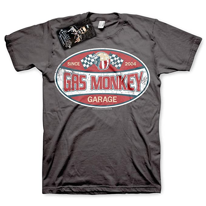 Gas Monkey Garage Officially Licensed - Since 2004 T-Shirt Camiseta T Shirt GMG - 100% Oficial: Amazon.es: Ropa y accesorios