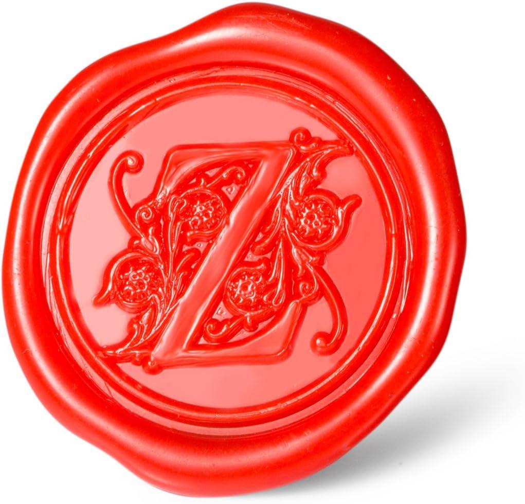 Regal Buchstabe A bis Z Serie a Mceal Siegelstempel Silberfarbener Messingkopf mit Holzgriff