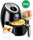 Electric Air Fryer 3.8QT XL Oil Free Low Fat with Cookbook, Digital LED 7-in-1 Air Cooker, Dishwasher Safe Fry Drawer with 5-Piece Accessories 1500W