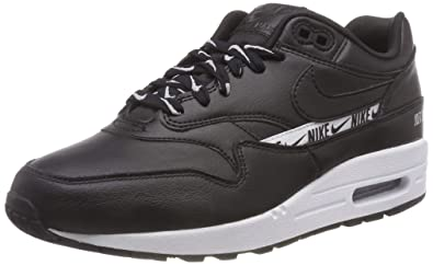 online store 9fc72 83a12 Nike Womens Air Max 1 SE Black Black-White 881101 005 (US 5