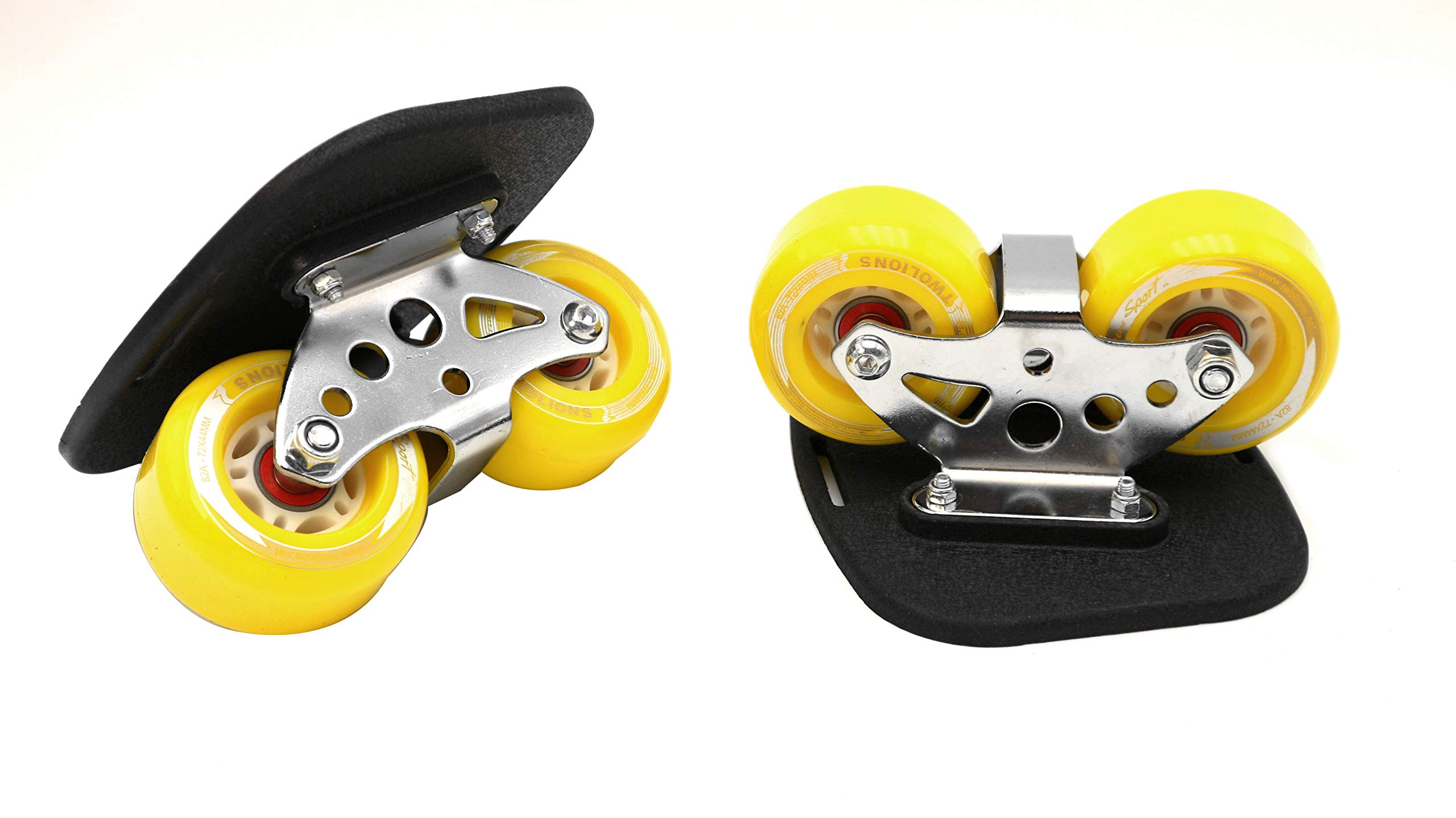 Roller Road Drift Skates Plate Pro Skates Anti-Slip Board Portable Split Skateboard All-in-one Aluminum Alloy with PU Wheels(Yellow) by Smartuan (Image #5)