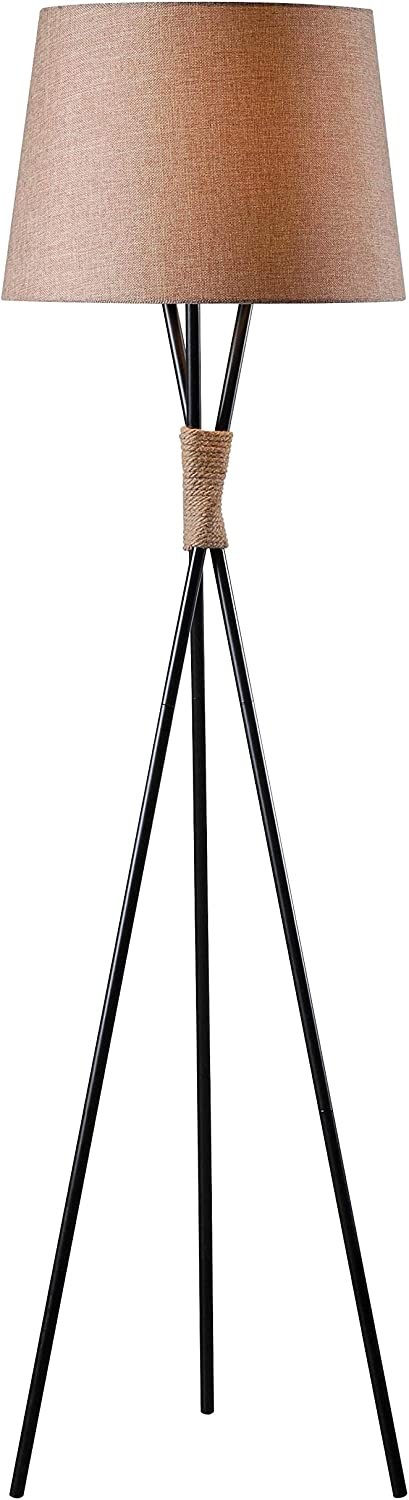 Kenroy Home Casual Floor Lamp,58.5 Inch Height, 18.5 Inch Diameter with Bronze with Rope Accents Finish