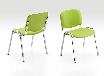 Sedie Ufficio Ecopelle : Karisma iso ecopelle c e sedia in plastica casa ufficio