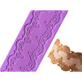Anyana French Empire Silicone Fondant mold Cake decorationg tool Pretty Mould Lace Mat Edible Sugarcraft chocolate cookie border stencil