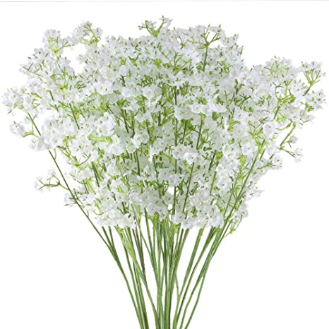 Artificial Silk Gypsophila Baby Breath Fake Flower Bouquet Home Wedding Decor b