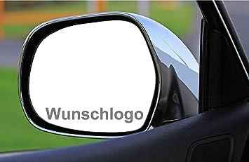 Myrockshirt 2 X Wunschlogo Wunschname Spiegelaufkleber Aus Milchglasfolie Aufkleber Aus Frost Folie Auto