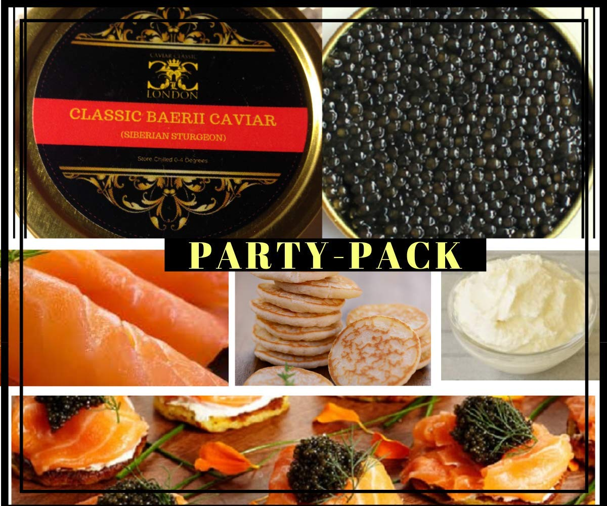 30 Gram Classic Baerii Caviar Party Pack  Free 1-2 Day std  delivery