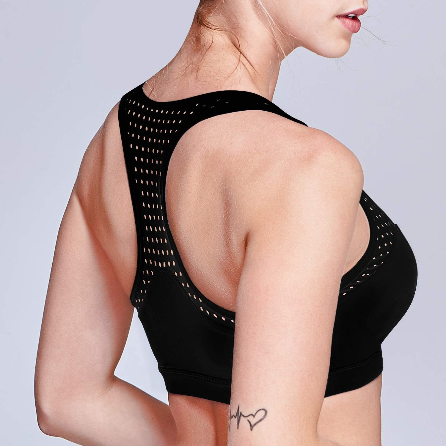 Matymats Active Yoga Sports Bra Tops with Removable Pads Medium Impact for Women