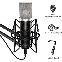 TONOR Cardioid Condenser Microphone USB Computer Mic Kit with 24mm Diaphragm/Spider Shock Mount