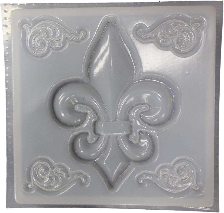 FLEUR DE LIS Stepping Stone Plaster or Concrete Mold 1156 Moldcreations