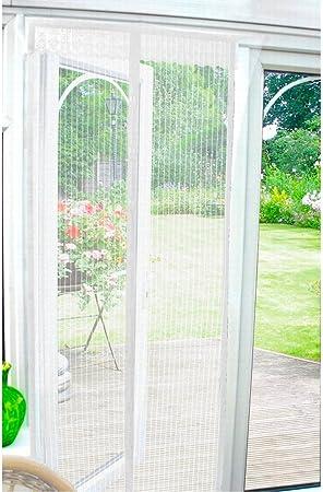 Country Club - Mosquitera magnética para puertas, color blanco: Amazon.es: Hogar