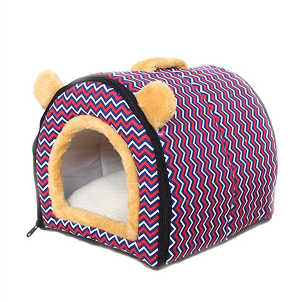 PURPLE 352929cm PURPLE 352929cm Ryan Cat Dog Nest Kennel House Cave Cozy Sleeping Bag Bed With Non-slip Pad Cushions Handle Soft Warm (color   PURPLE, Size   35  29  29cm)