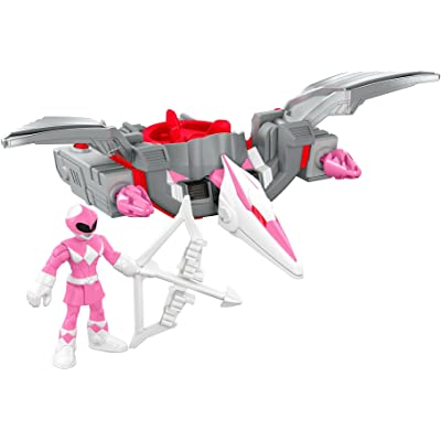 Fisher-Price Imaginext Power Rangers Pink Ranger & Pterodactyl Zord: Toys & Games