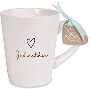 Pavilion Gift Company Godmother Cup, 15 oz, Cream