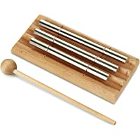 Meditation Trio Chime, Three Tone Solo Percussion Instrument for Prayer, Yoga, Eastern Energy Chime for Meditation and Classroom Use