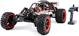 Oil-fired petrol car Short Version 1/5 RC Baja for Adult,RC Gasoline Car,Equipped with Rear Wheels for Safer Head-Ups