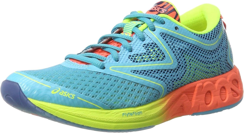 Asics Noosa FF, Zapatillas de Deporte para Mujer, Azul (Aquarium / Flash Coral / Safety Yellow), 36 EU: Amazon.es: Zapatos y complementos