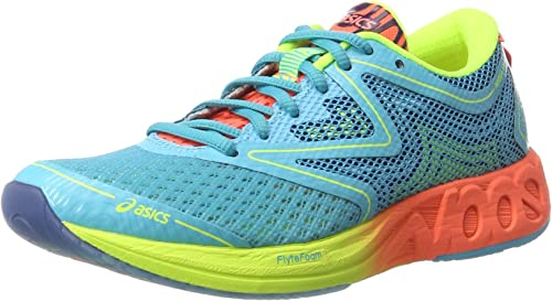 Asics Noosa FF, Zapatillas de Deporte para Mujer, Azul (Aquarium / Flash Coral / Safety Yellow), 36 EU: Amazon.es: Zapatos y complementos