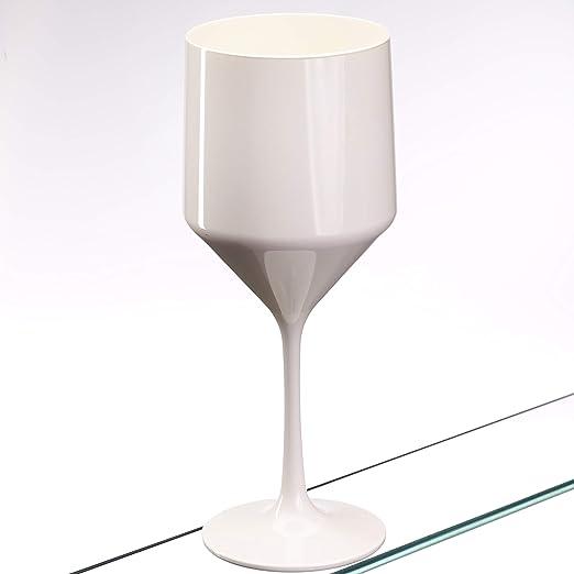 Juego de 6 vasos de vino grandes y sólidos de diseño irrompible ...