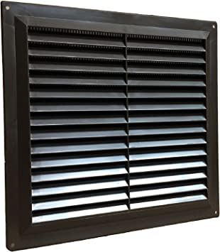9 x 6 White Plastic Louvre Air Vent Grille With Flyscreen Cover by SmartHome