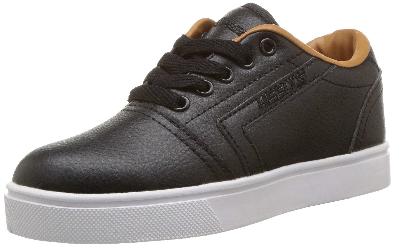 Heelys Boys' GR8 Pro Tennis Shoe, Black/Cashew, 1 M US Big Kid