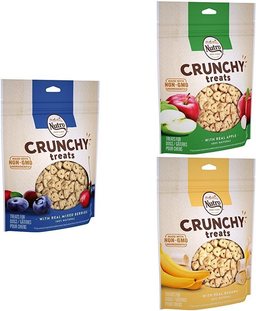 NUTRO Crunchy Dog Treats Variety, 16 oz. Bag (Pack of 3)