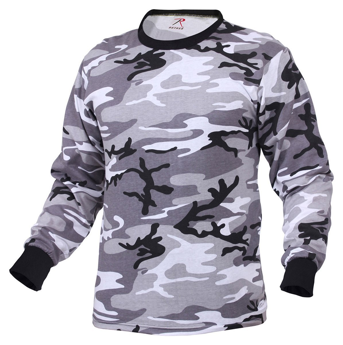 Rothco Long Sleeve T-Shirt, City Camo, 2X RSR Group Inc 67791