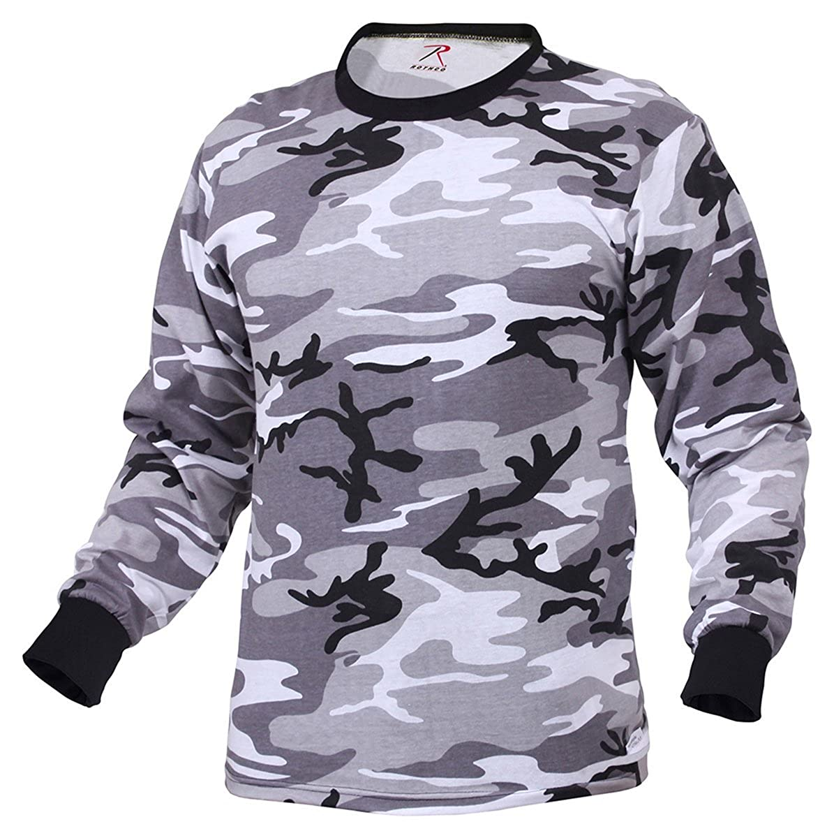 Rothco Mens Camouflage T-Shirt - Long Sleeve, City Camo, Medium RSR Group Inc 67790MED