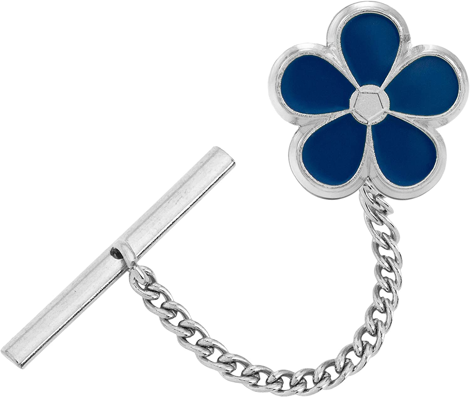 Masonic Revival Forget Met Not Tie Pin Tack (Silver)